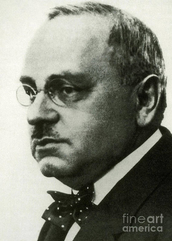 Adler Poster featuring the photograph Alfred Adler, Austrian Psychologist by Science Source
