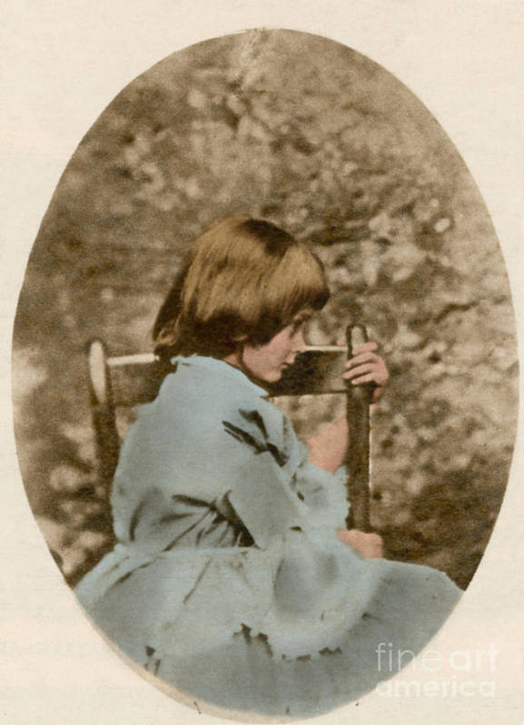 Historic Poster featuring the photograph Alice Liddell, Alices Adventures by Science Source