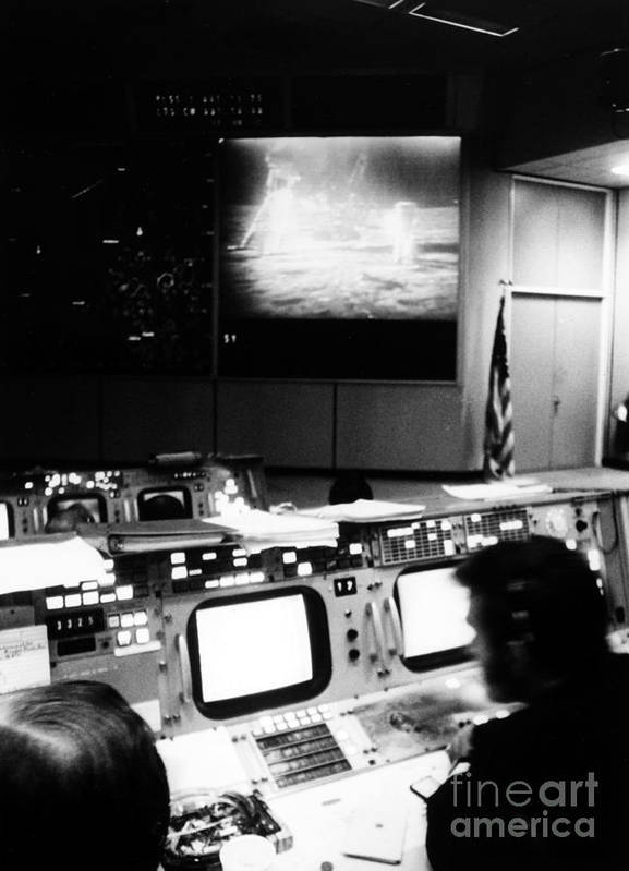 1969 Poster featuring the photograph Apollo 11: Mission Control by Granger