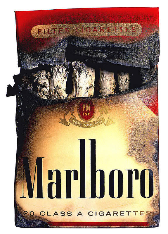 Marlboro Poster featuring the photograph Cigarette Skeleton by Michael Kraus