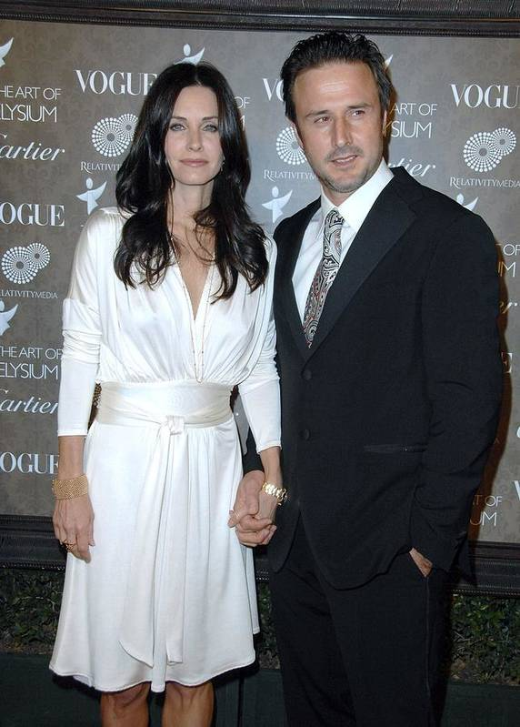 The Art Of Elysium 2nd Annual Black Tie Gala Poster featuring the photograph Courteney Cox Arquette,david Arquette by Everett