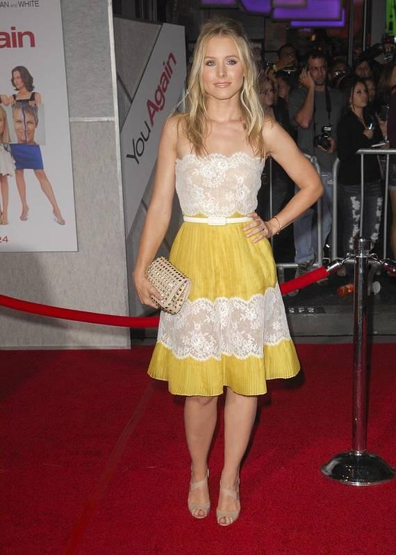 Kristen Bell Poster featuring the photograph Kristen Bell Wearing A Valentino Dress by Everett