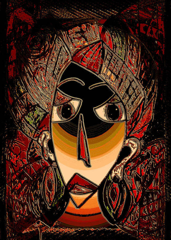 Mask Poster featuring the mixed media Marali by Natalie Holland