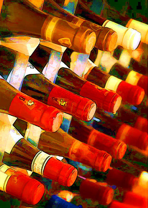 Wine Poster featuring the painting Red Or White by Elaine Plesser