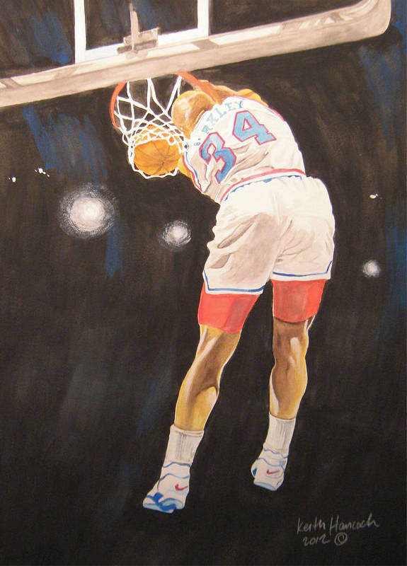 Basketball. Charles Barkley Poster featuring the painting Sir Charles by Keith Hancock