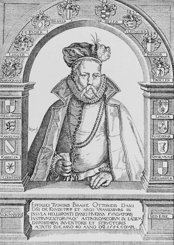Brahe Poster featuring the photograph Tycho Brahe by Science, Industry & Business Librarynew York Public Library