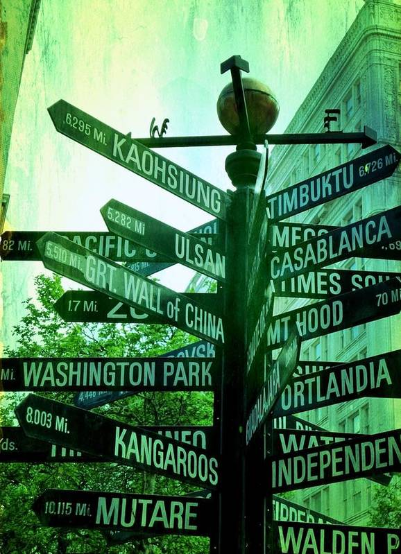 Urban Poster featuring the photograph Where To Go by Cathie Tyler