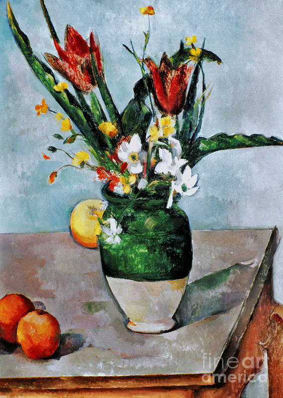 1892 Poster featuring the photograph Cezanne: Tulips, 1890-92 by Granger