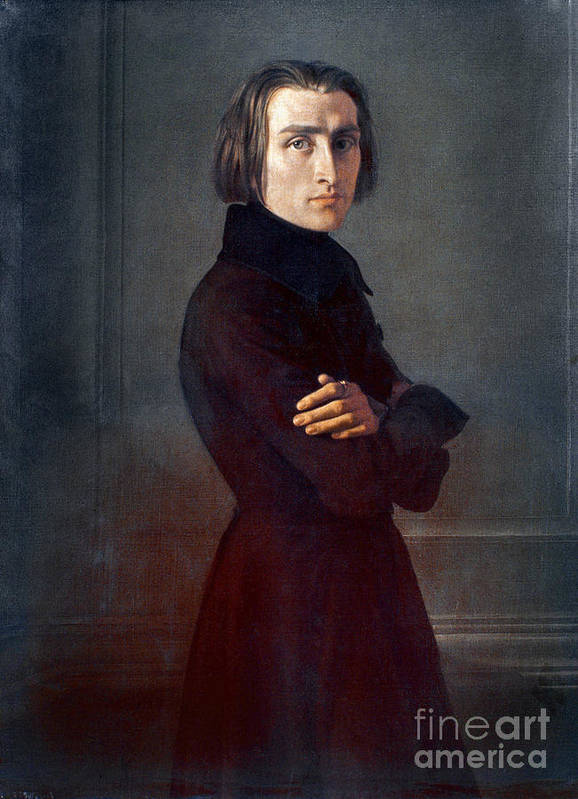 1839 Poster featuring the photograph Franz Liszt (1811-1886) by Granger