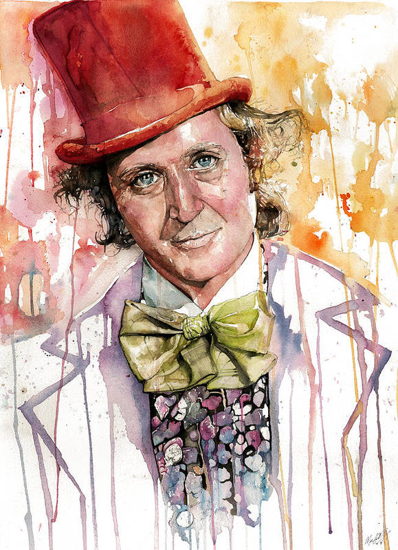 Gene Wilder Poster featuring the painting Gene Wilder by Michael Pattison