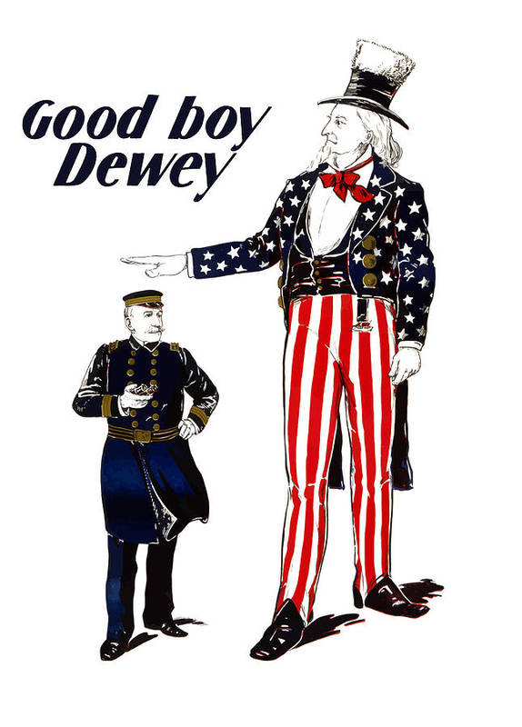 Uncle Sam Poster featuring the painting Good Boy Dewey by War Is Hell Store