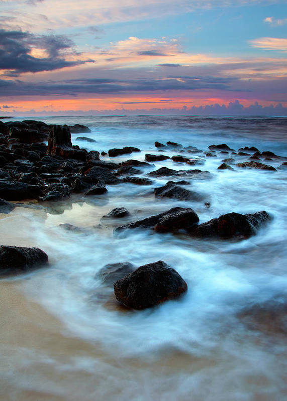 Sunrise Poster featuring the photograph Koloa Dawn by Mike Dawson