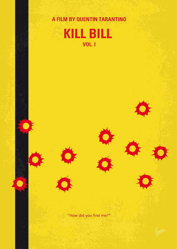 Kill Bill Poster featuring the digital art No048 My Kill Bill -part 1 Minimal Movie Poster by Chungkong Art