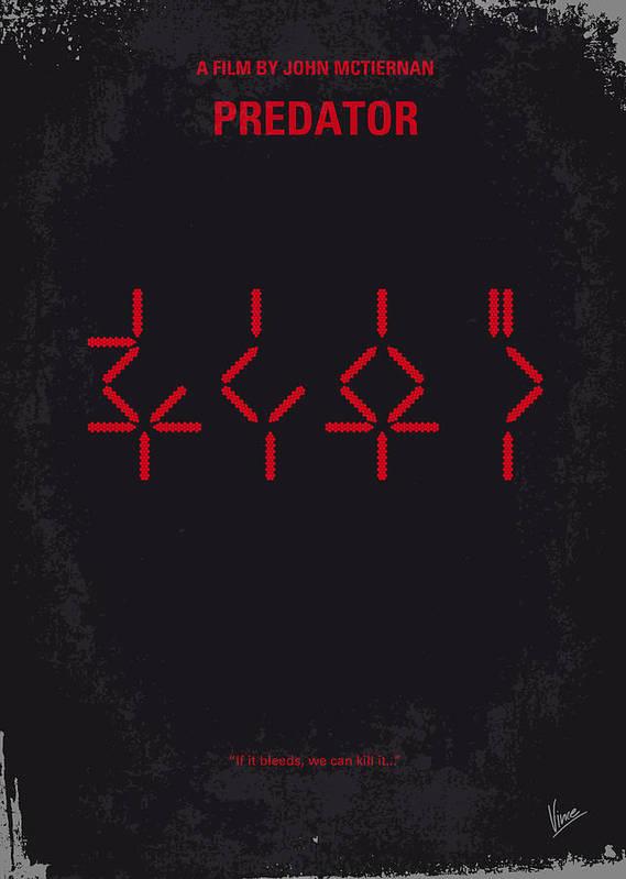 Predator Poster featuring the digital art No066 My Predator Minimal Movie Poster by Chungkong Art