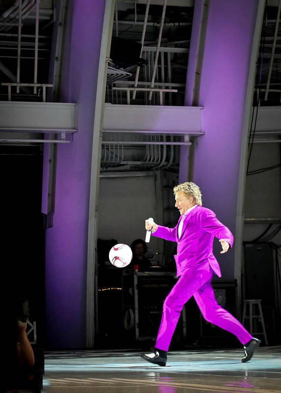 Rod Stewart Poster featuring the photograph Rod Stewart Soccer Ball by April Reppucci