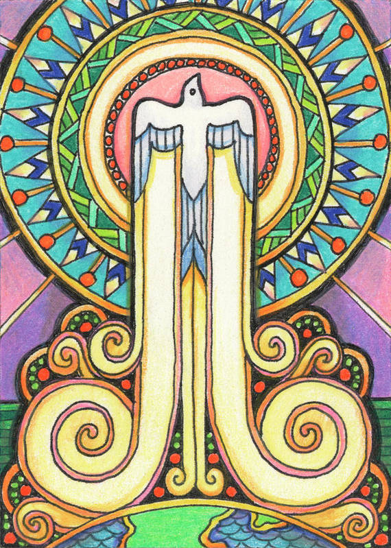 Atc Poster featuring the drawing Spirit Rising by Amy S Turner
