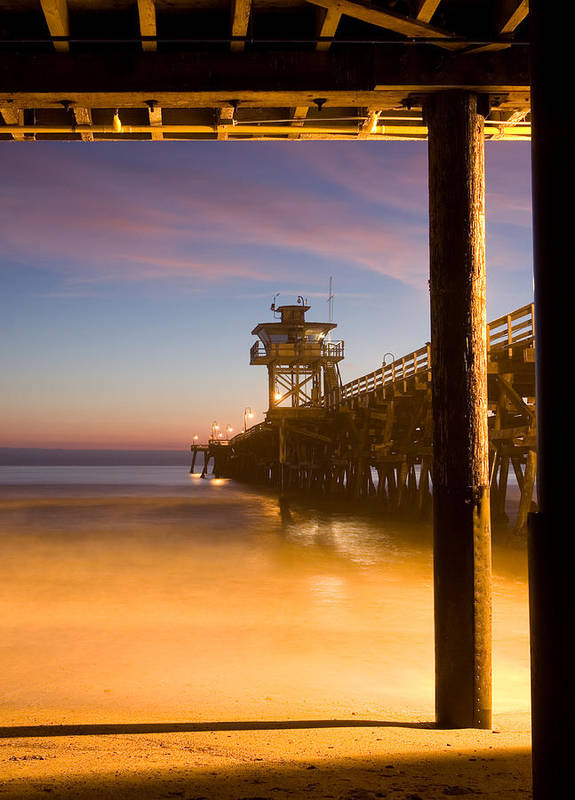 San Clemente Poster featuring the photograph Sunset At San Clemente by Cliff Wassmann