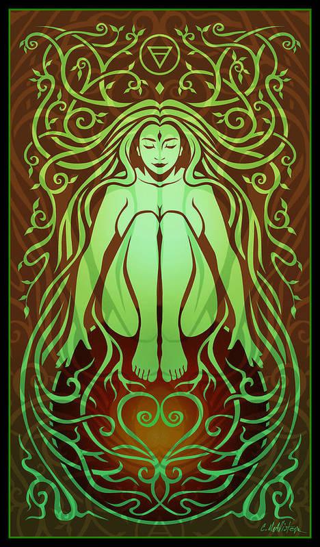 Goddess Poster featuring the digital art Earth Spirit by Cristina McAllister