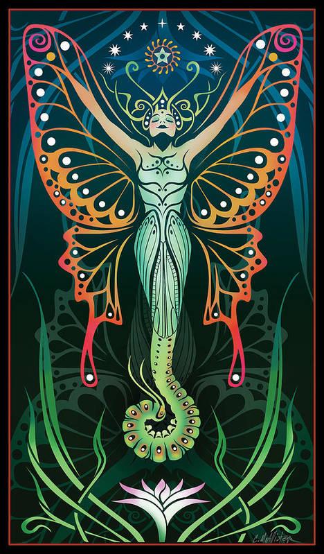 Art Nouveau Poster featuring the digital art Metamorphosis by Cristina McAllister
