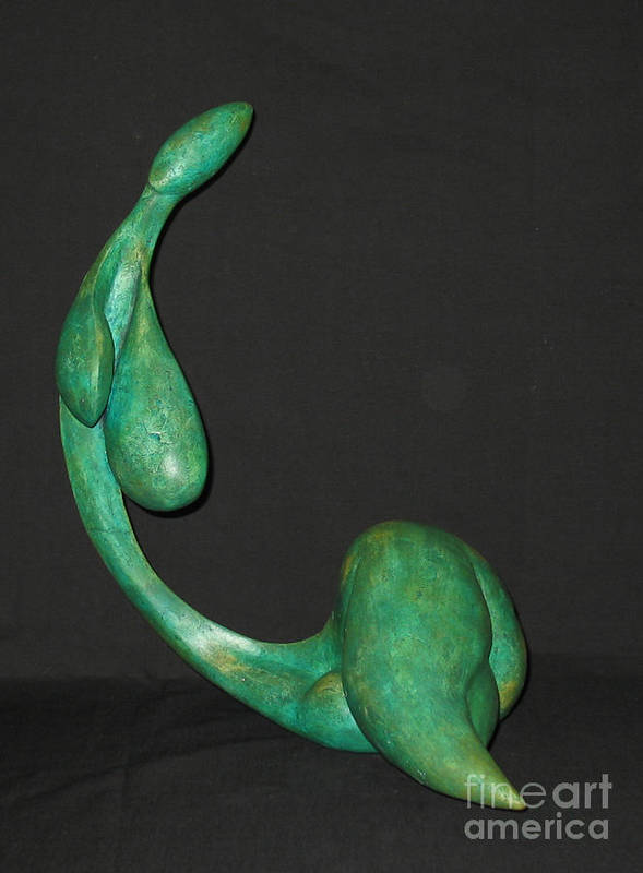 Fine Art Canvas Print Poster featuring the sculpture Organic 3 by Flow Fitzgerald