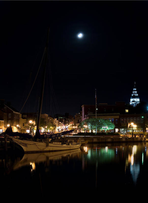 Annapolis Poster featuring the photograph Annapolis Maryland Panorama by Benjamin Reed