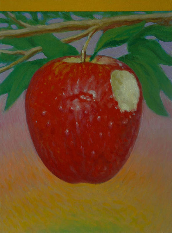 Set Poster featuring the painting Apple 3 In A Series Of 3 by Don Young