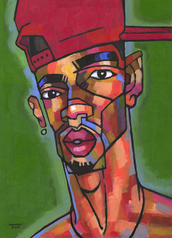 Portrait Poster featuring the painting Baller by Douglas Simonson