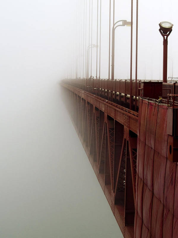 Fog Poster featuring the photograph Bridge To Obscurity by Bill Gallagher