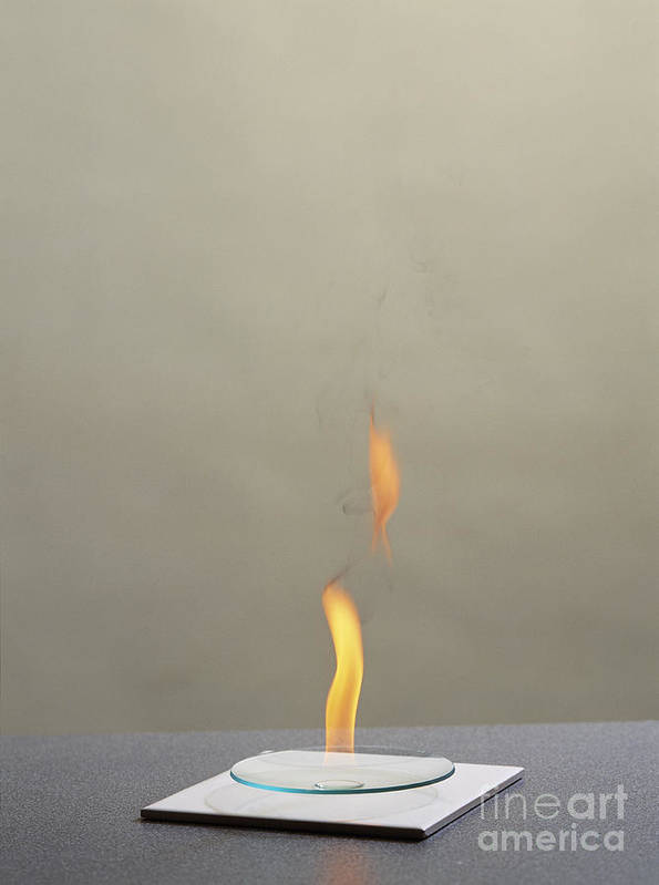 Hexane Poster featuring the photograph Combustion Of An Alkane by Martyn F. Chillmaid