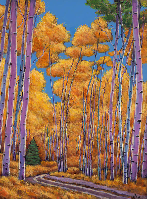 Autumn Aspen Poster featuring the painting Country Corner by Johnathan Harris