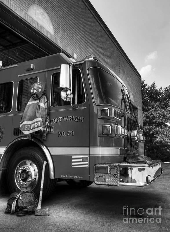 Engine 751 Poster featuring the photograph Engine 751 Bw by Mel Steinhauer