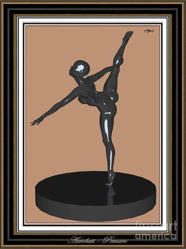 Modern Painting Poster featuring the painting erotic acrobatics 12EA 2 by Pemaro