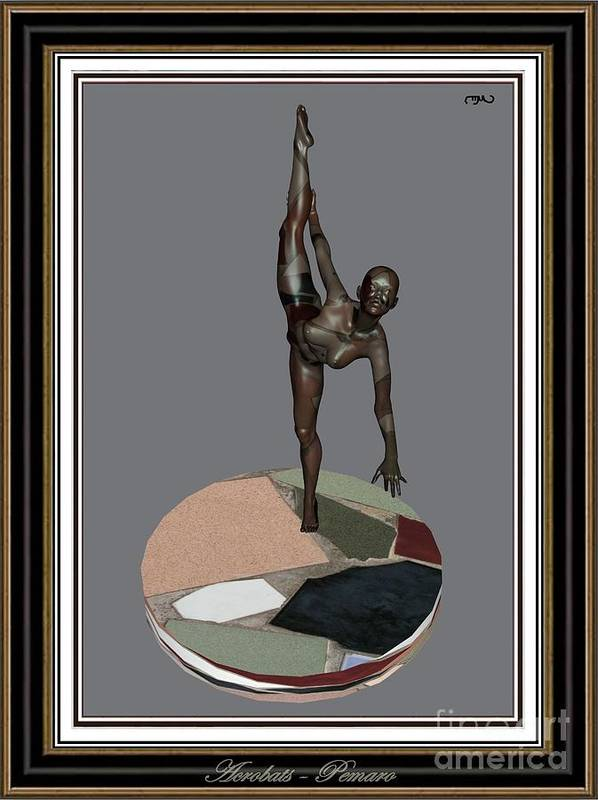 Modern Painting Poster featuring the painting erotic acrobatics 7EA 2 by Pemaro