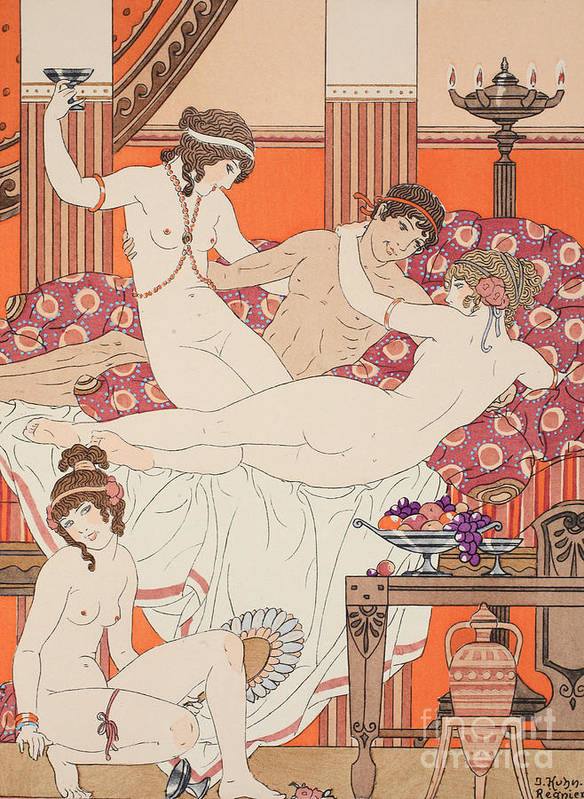 Ancient Greece Poster featuring the painting Excess Of Wine And Women by Joseph Kuhn-Regnier