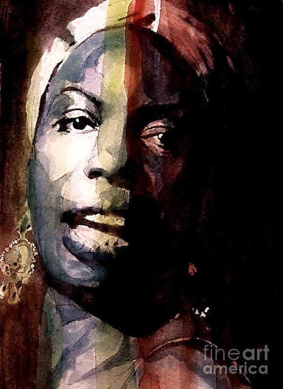 Nina Simone Poster featuring the painting Felling Good by Paul Lovering