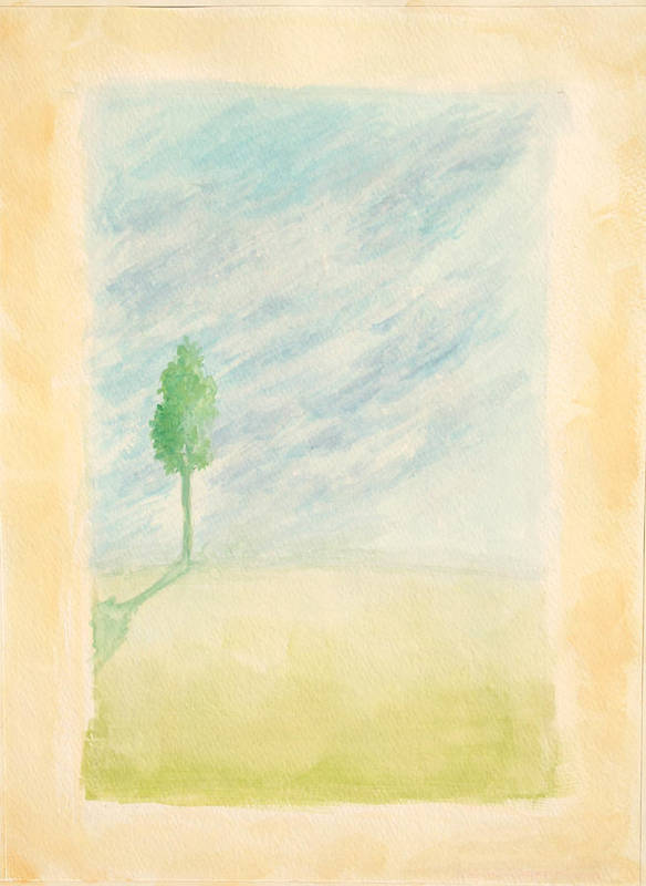 Tree Poster featuring the painting Hazy Day 2009 by Thomas Griffith