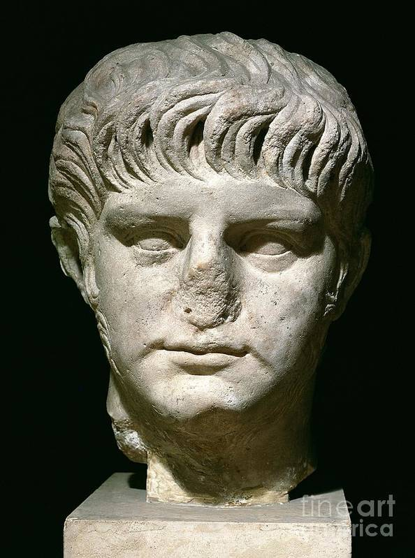 Roman Emperor Poster featuring the sculpture Head Of Nero by Anonymous