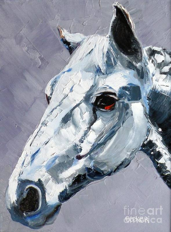 Horse Poster featuring the painting Legend by Susan A Becker