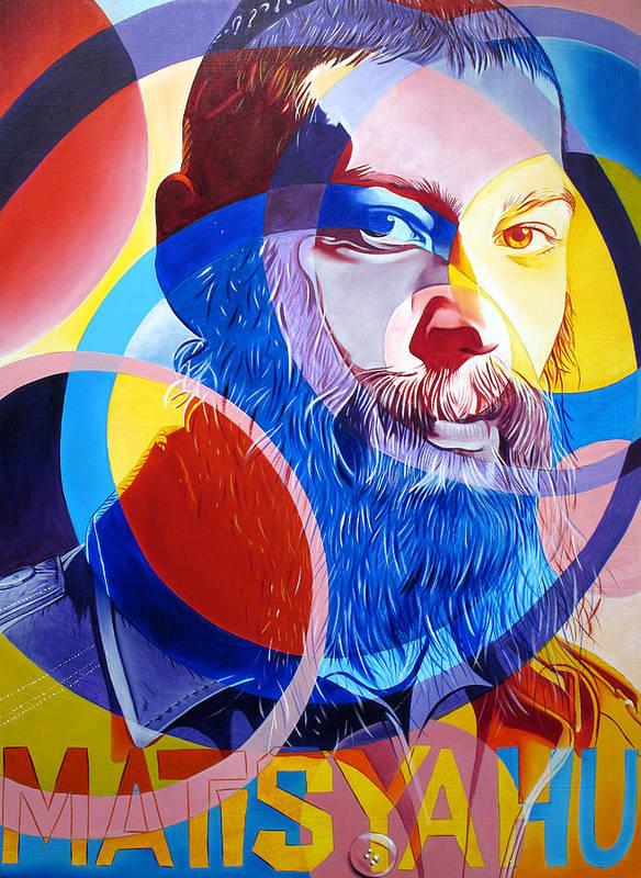 Matisyahu Poster featuring the painting Matisyahu In Circles by Joshua Morton