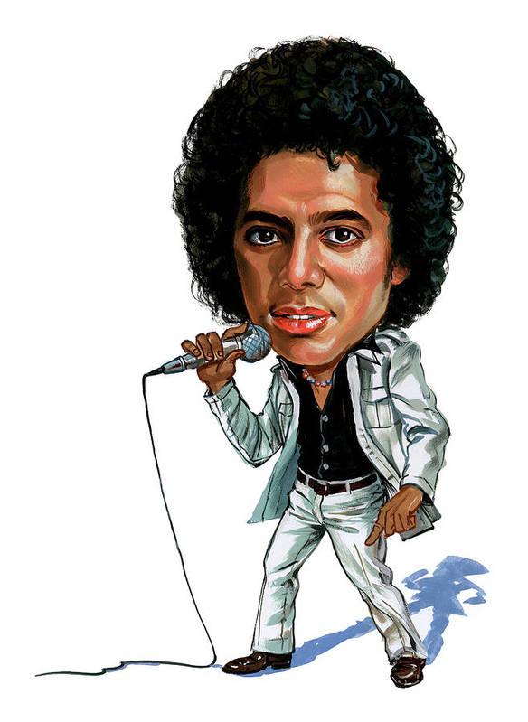 Michael Jackson Poster featuring the painting Michael Jackson by Art