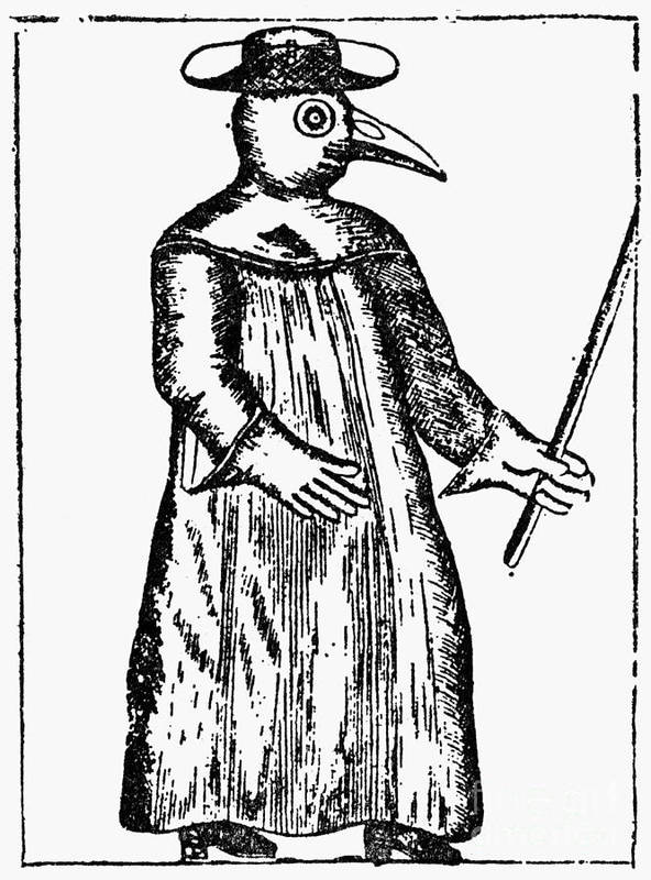 1720 Poster featuring the photograph Plague Costume, 1720 by Granger