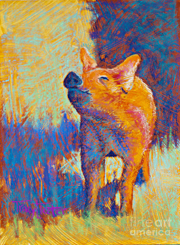 Pastel Poster featuring the pastel Rosie by Tracy L Teeter