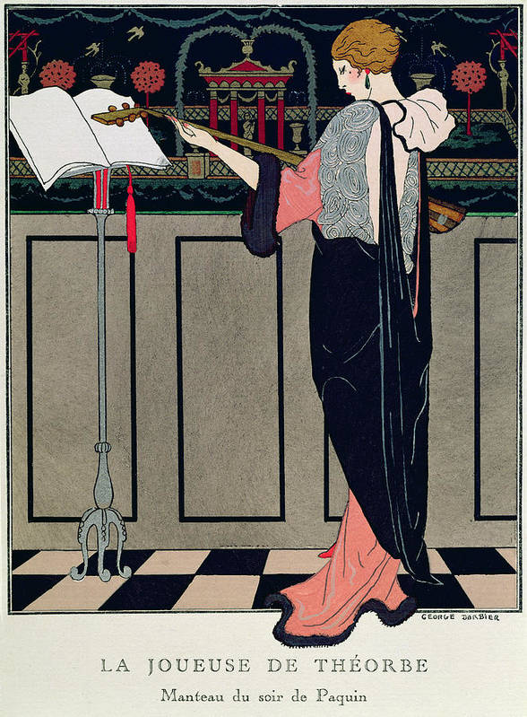 Theorbe Poster featuring the painting Summer Evening Wear From Art Gout Beaute by Georges Barbier