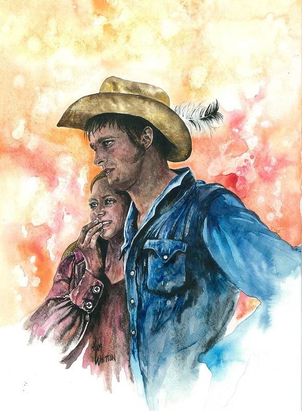 Original Poster featuring the painting The King And His Queen by Kim Whitton
