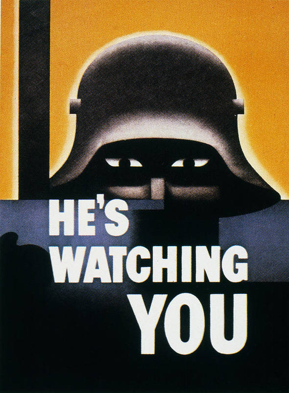 1942 Poster featuring the photograph Wwii: Propaganda Poster by Granger