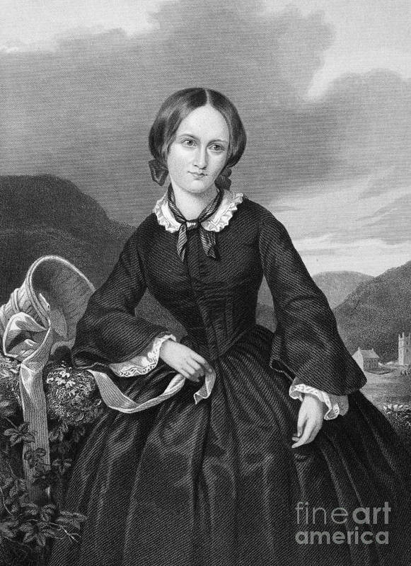 19th Century Poster featuring the photograph Charlotte BrontË by Granger