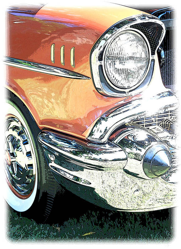 Color Poster featuring the photograph 1957 Chevy by Steve McKinzie