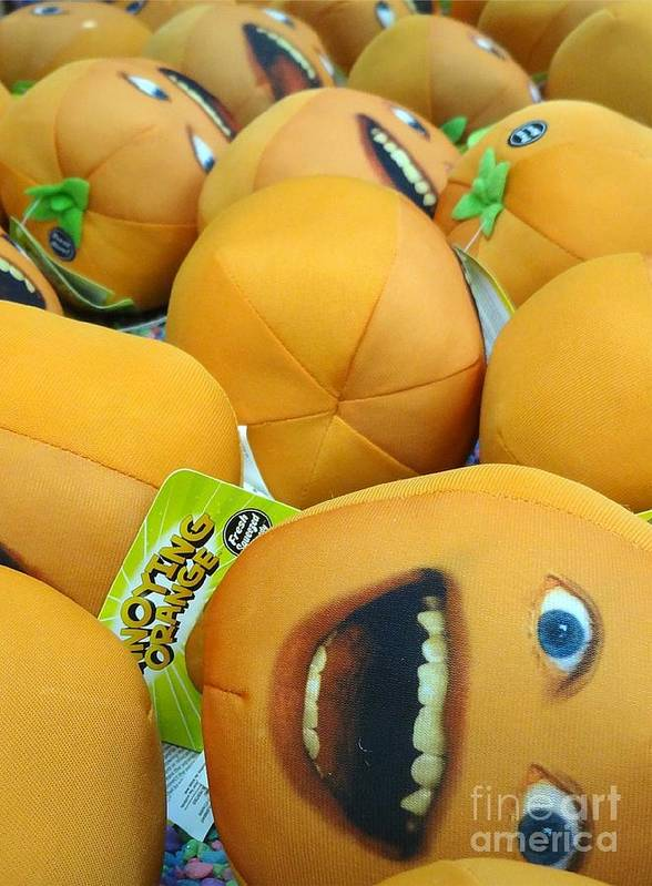 Annoying Orange Poster featuring the photograph Annoying Orange by John Velasquez