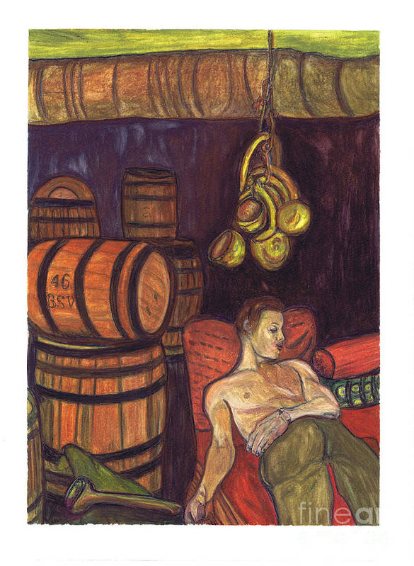 Wine Seller Poster featuring the painting Drunken Arousal by Melinda English