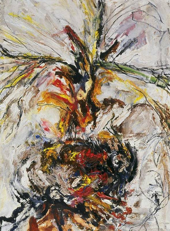 Fine Art Poster featuring the painting Explosion Two by Iris Gill